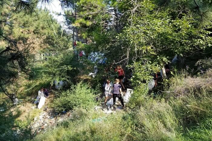 Активисты ликвидировали несанкционированную свалку на окраине села Красногорка