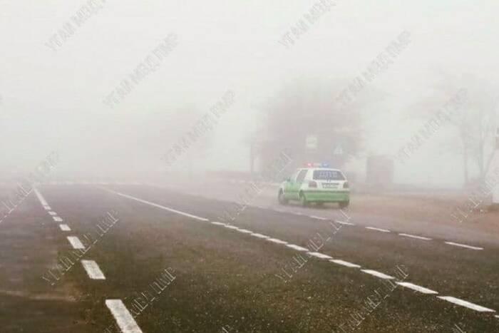 ДТП в Дубоссарском районе. Водитель из-за тумана не заметил пешехода