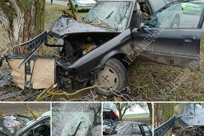 ДТП в Слободзейском районе: Автомобиль врезался в дерево