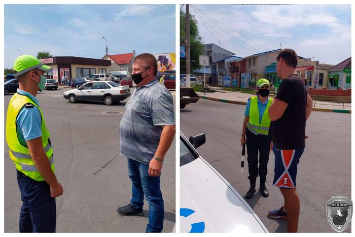 Дубоссарские госавтоинспекторы проводят профилактическую работу с водителями и пешеходами