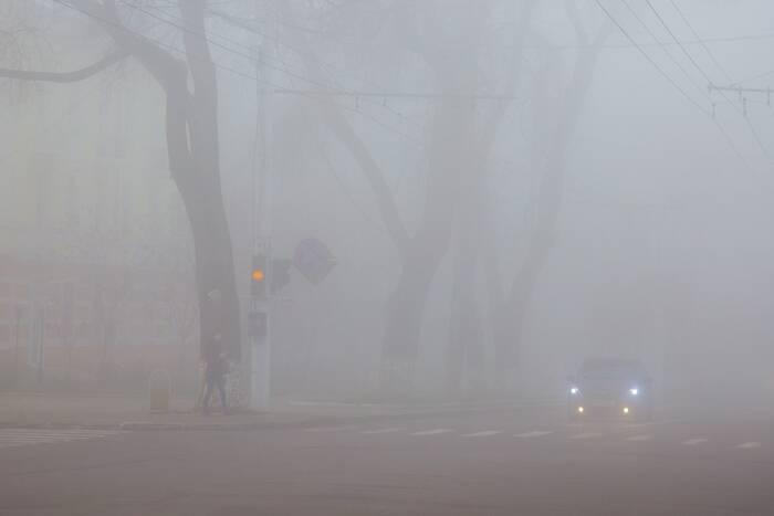 ГАИ призывает водителей быть внимательными на дорогах во время тумана