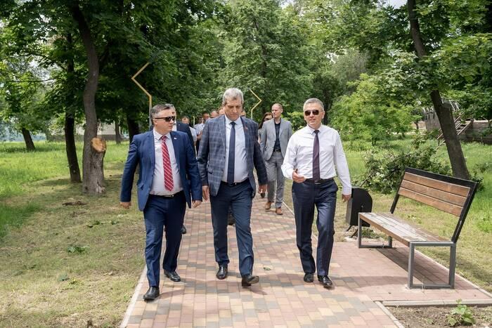 Президент проверил ход работ по благоустройству дубоссарского парка Энергетиков