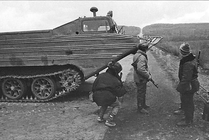 Мартовская война в Дубоссарах. 14 марта 1992 года боевики Молдовы попытались перерезать Приднестровье на части