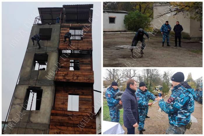 Ежегодные соревнования по триатлону организовали в спецотряде МВД «Днестр»