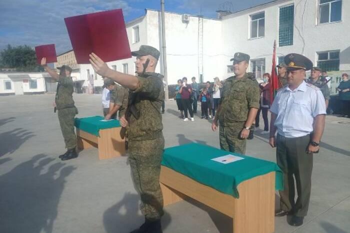 Новобранцы Конвойного батальона внутренних войск Минюста приняли присягу