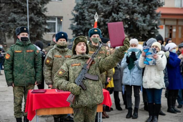 Новобранцы Вооружённых сил приняли военную присягу