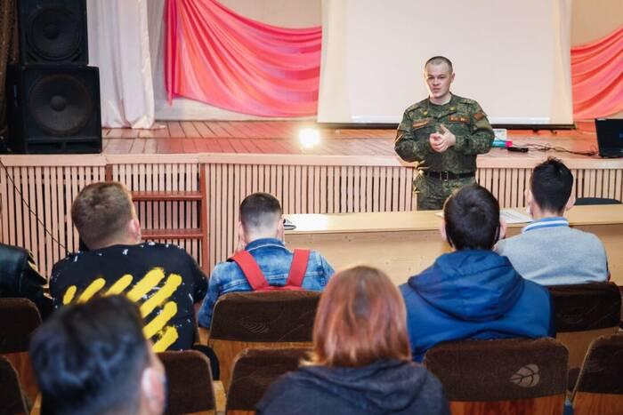 Представители Военного института встретились со студентами Слободзейского политехнического техникума