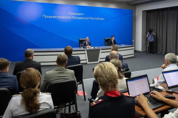 Президент ПМР Вадим Красносельский проводит ежегодную пресс-конференцию