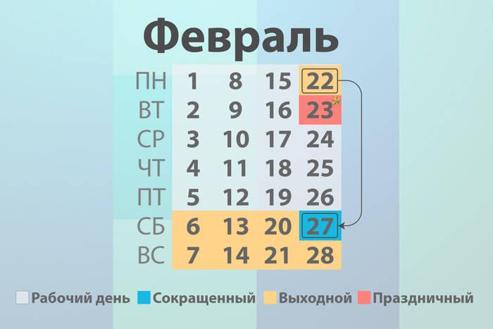 Работников с пятидневным графиком ожидают четыре выходных дня