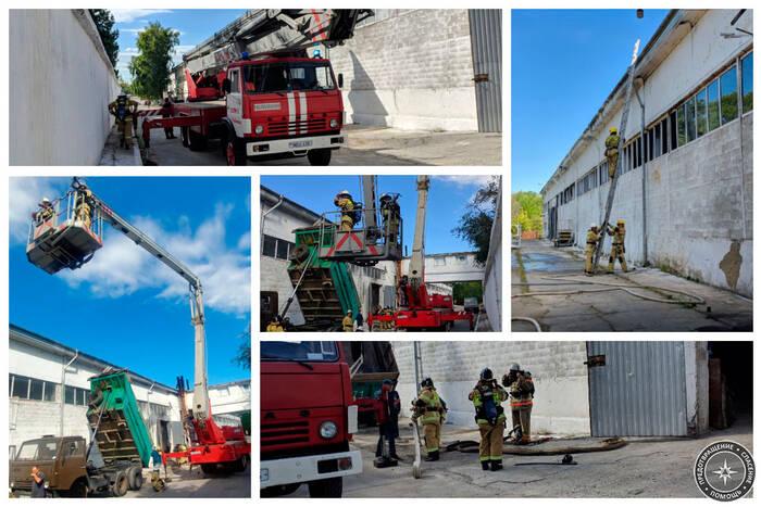 Рыбницкие пожарные провели плановые тактические учения