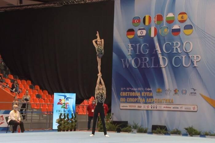 Смешанная пара акробатов из Приднестровья выиграла международный турнир в Украине