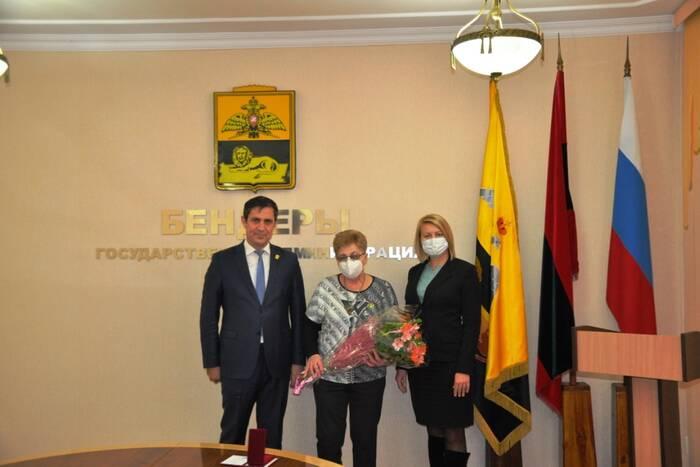 В Бендерах вручили орден Почёта ветерану Совета трудовых коллективов
