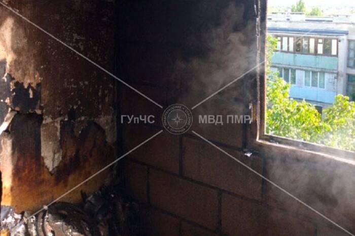 В Бендерах загорелся балкон из-за непотушенной сигареты