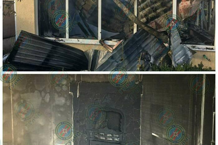 В частном доме в Кицканах пожарные потушили пожар в бане