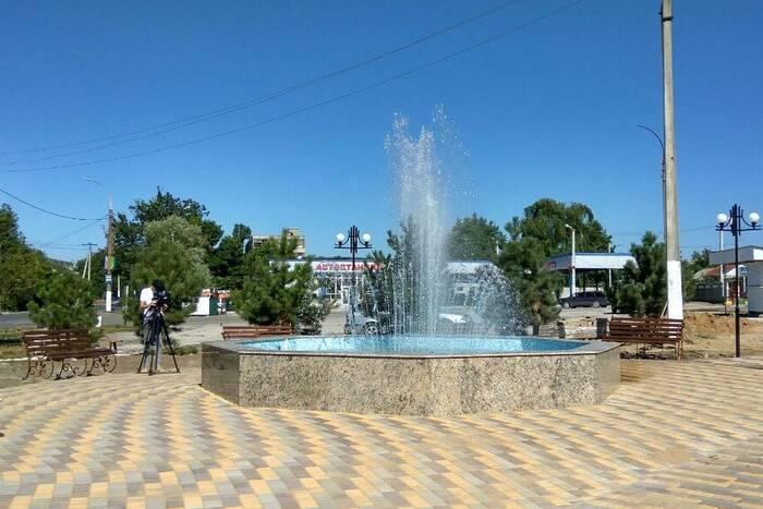 В новом парке Дубоссар запустили фонтан