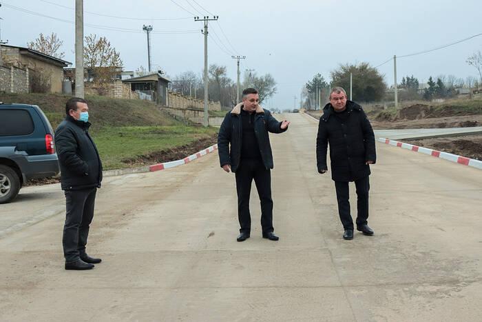 В Дубоссарах завершено строительство участка новой цементобетонной дороги