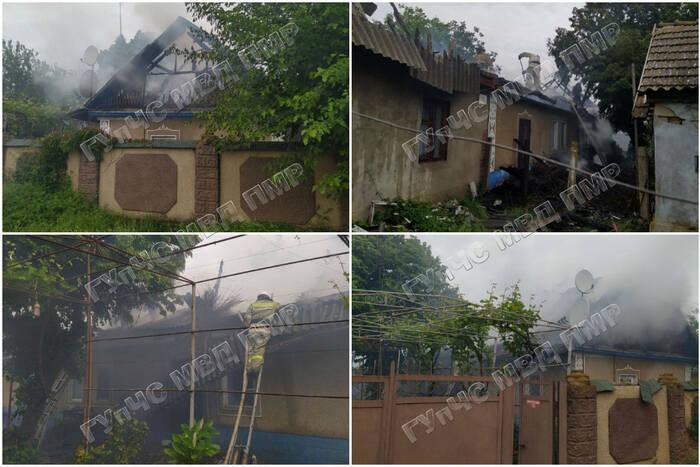 В Незавертайловке сгорела крыша частного дома