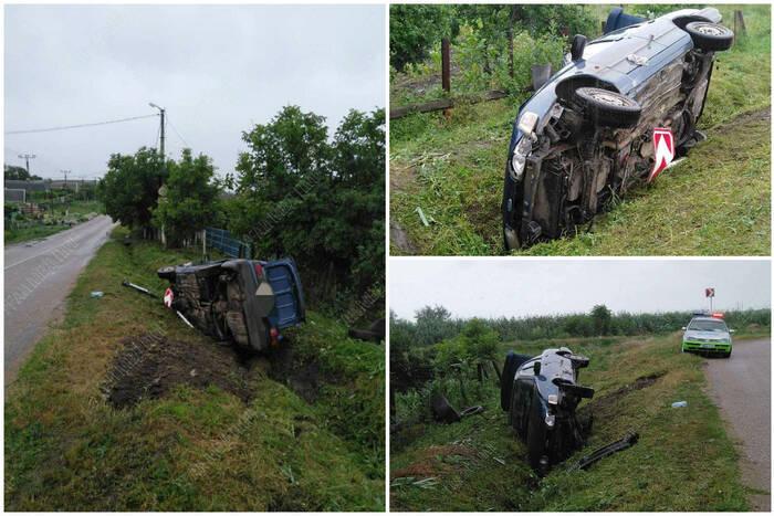 В Первомайске перевернулся автомобиль
