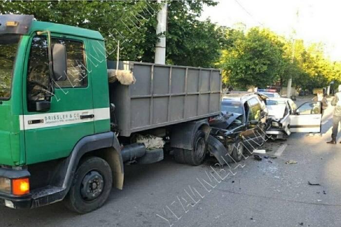 В Тирасполе произошло ДТП с участием трёх автомобилей