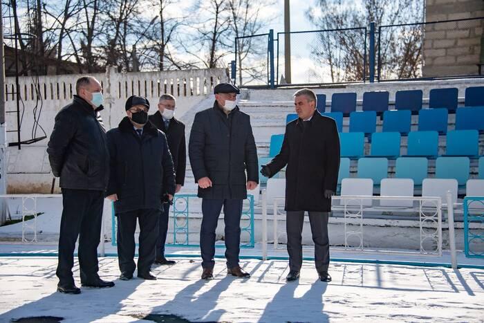 Вадим Красносельский оценил ход работ по реконструкции рыбницкого стадиона